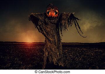 scarecrow pumpkin creature