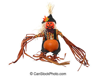 Scarecrow & Pumpkin
