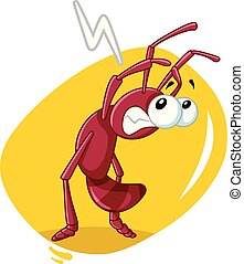 Scared Ant Insect Vector Cartoon