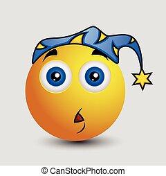 Scared at Night Emoji Smiley