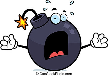 Scared Bomb - A cartoon bomb with a scared expression.