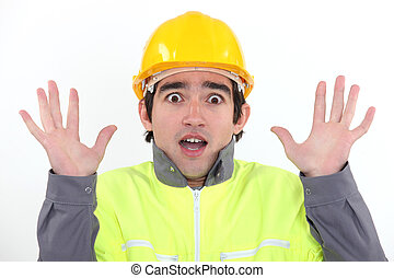 Scared builder