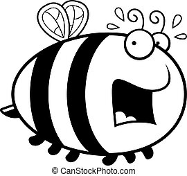 Scared Cartoon Bee