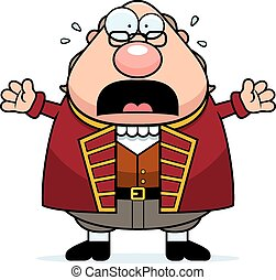 Scared Cartoon Ben Franklin