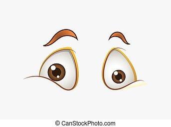 Scared Cartoon Eyes Expression