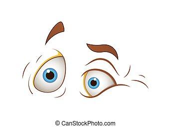 Scared Cartoon Eyes