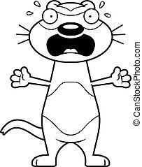 Scared Cartoon Ferret