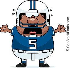 Scared Cartoon Football