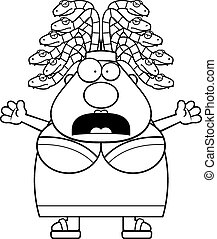 Scared Cartoon Medusa