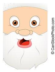 Scared Cartoon Santa Claus Face