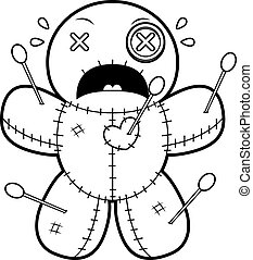 Scared Cartoon Voodoo Doll