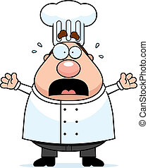 Scared Chef - A cartoon chef with a scared expression.