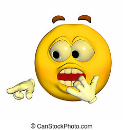 Scared Emoticon - Illustration of a scared emoticon isolated...