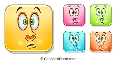 Scared Emoticons collection