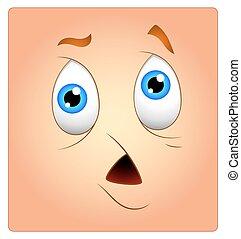 Scared Face Box Smiley