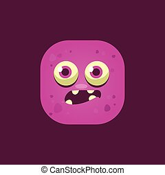 Scared Pink Monster Emoji Icon