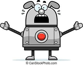 Scared Robot Dog