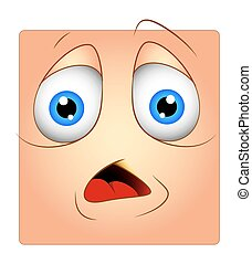 Scared Smiley Cartoon Character
