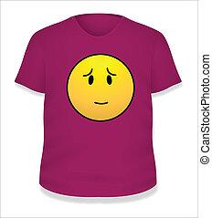 Scared Smiley Vector T-Shirt Design