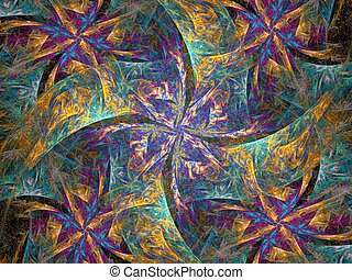 scarf - abstract fractal background created with apophysis
