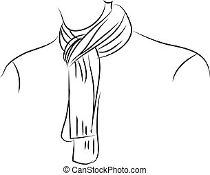 scarf stock illustrations 35 442 scarf clip art images and royalty rh canstockphoto com scarves clip art scarf clip art black and white