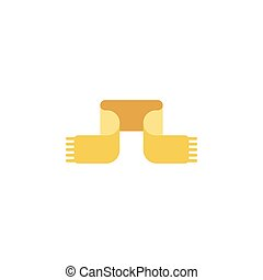 scarf flat icon