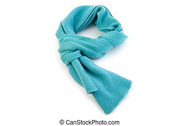 Scarf on white background close up