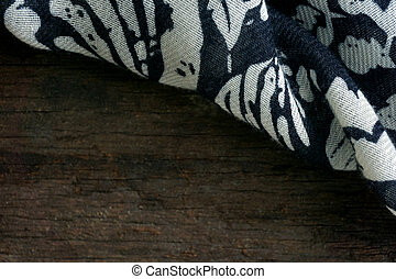 scarf on wooden background