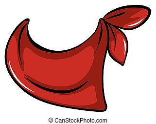 Scarf - Red scarf on white background