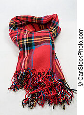 Scarf on the white background