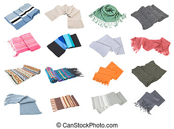 Scarfs collection set #2 | Isolated
