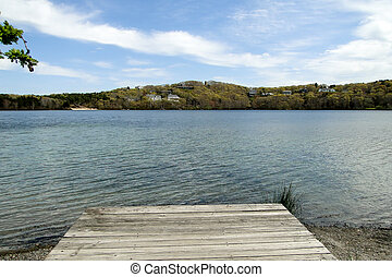 Scargo Lake dock, Cape Cod
