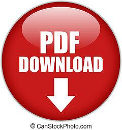 scaricare, pdf, bottone, vettore