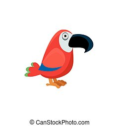 Scarlet Macaw Funny Illustration