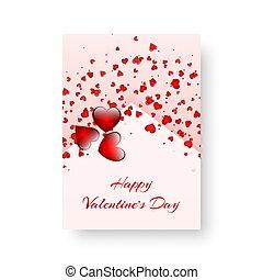 scarlet, retangular, cobertura, corações