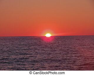 scarlet sunset in Turkey in October
