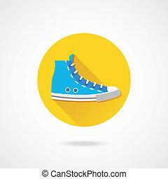 scarpa tennis, vettore, icona