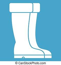 scarpe bianche, inverno, icona