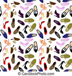 scarpe, fondo, seamless