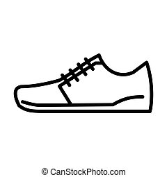 scarpe, msidiqf, -, contorno, icona