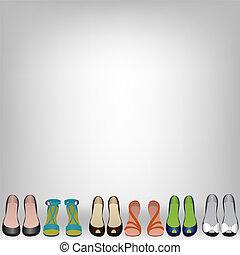 scarpe, pavimento