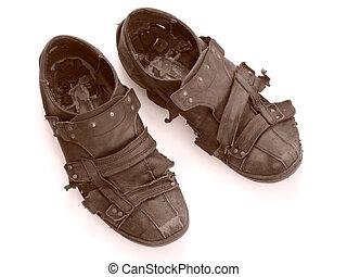 scarpe, portato fuori