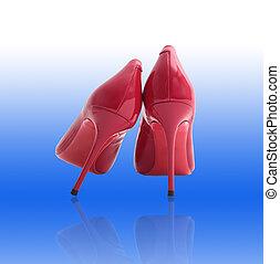 scarpe, rosso
