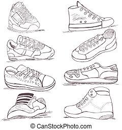 scarpe tennis, collezione