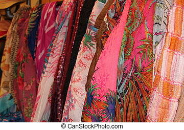 Scarves in a Retail Store Display