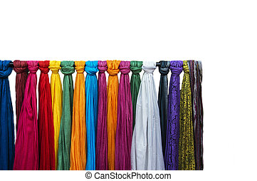 Scarves on sale - Nice scarves on sale at a shop. Scarves...