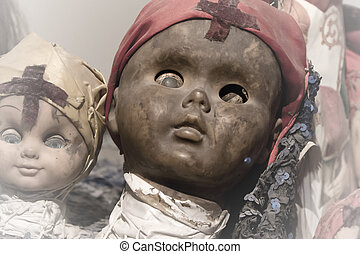 Scary black doll face