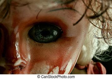 Scary doll eye