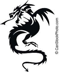 dragoon print - scary dragoon print