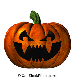 Halloween Jack O'Lantern Pumpkin - Scary evil carved...